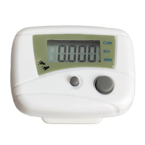 Electronic LCD Run Step Pedometer Walking Distance Calorie Kilometer Miles Counter Passometer White - Kilometer Distance Counter