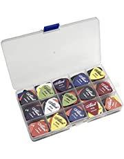 100pcs Acoustic Electric Guitar Picks Pick Plectrum Variety Colors THIN MEDIUM Thickness 0.58/0.71/0.81mm With Pick Case Organizer Box