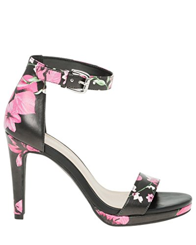 LE CHÂTEAU Women's Floral Leather-Like Ankle Strap Heeled Sandal,38,Multi-Coloured by LE CHÂTEAU