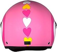 Amazon.es: BHR 93778 Demi-Jet Love 710 Casco de Moto, Color Rosa ...
