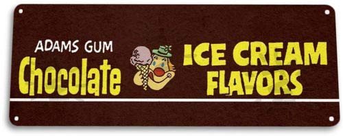 TIN Sign Chocolate Ice Cream Gum Chewing Gum Retro Food Candy Metal Decor