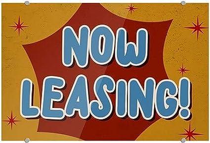 Now Leasing 18x12 5-Pack Nostalgia Burst Premium Acrylic Sign CGSignLab