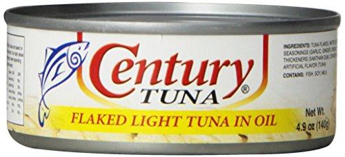 Century Tuna (Century Light Tuna in Vegetable Oil, 4.90 Ounce (Pack of 12))