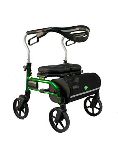 Evolution Lightweight Medical Walker Rollator with Seat, Large Wheels, Brakes, Backrest, Basket for Seniors Indoor Outdoor use (Mini, Vivid Green) in USA