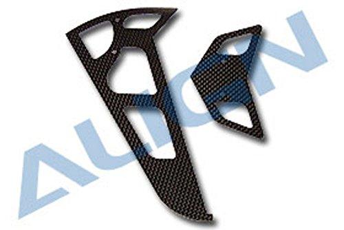 3K Carbon Fiber Stabilizer Set 1.6mm, Black: (Align 600 Carbon)
