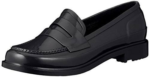 Hunter Womens Original Penny Loafers Black