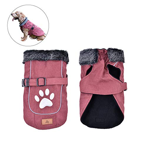 Dog Coats Dog Jackets Waterproof Dog Vest Windproof Pets Clothing Cold Weather Coats Small Medium Large Dog Sweater Winter XL Size, Red For Sale