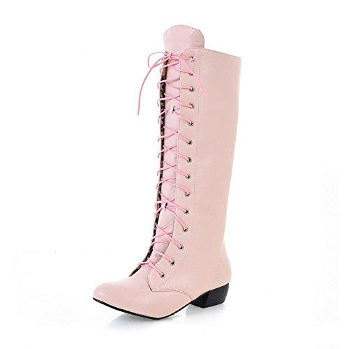 Uniti QXregalo Stati alta e Pink anteriore di ZQ trasversale gli bianco codice L scarpe Natale tirante bassa tubo Europa a stivali banda 8dSdwq0