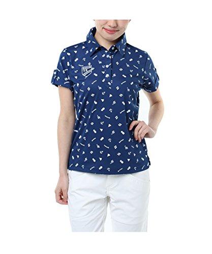 オプスト ゴルフウェア ポロシャツ 半袖 飛び柄半袖シャツ OP220301H03 NV L