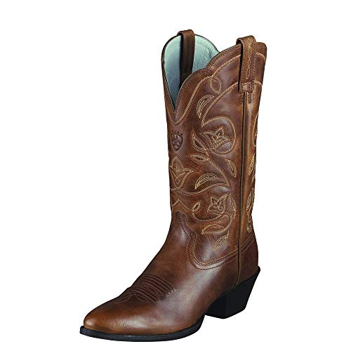 Ariat Women's Women's Heritage Western R Toe Boot, Russet Rebel, 6.5 B US