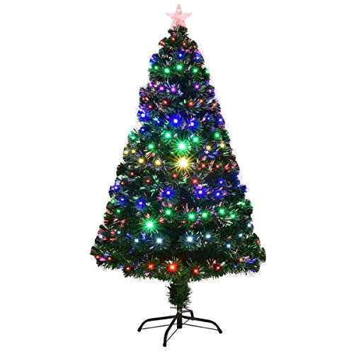 6 Fiber Optic Christmas Tree With Led Multicolor Lights