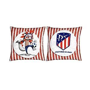 Atlético de Madrid. Cojines estampados de 50x50cm.con Licencia Oficial del Club. (Cojín 50x50 Indi 2)