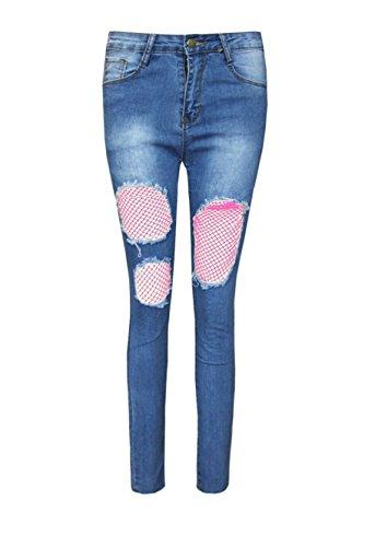 Vaqueros Boutique Pantalones mujer Pink Wash para Mid Envy zf6wO5BqB