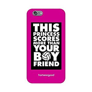 HomeSoGood This Princess Scores More Multicolor 3D Mobile Case For iPhone 6 (Back Cover)