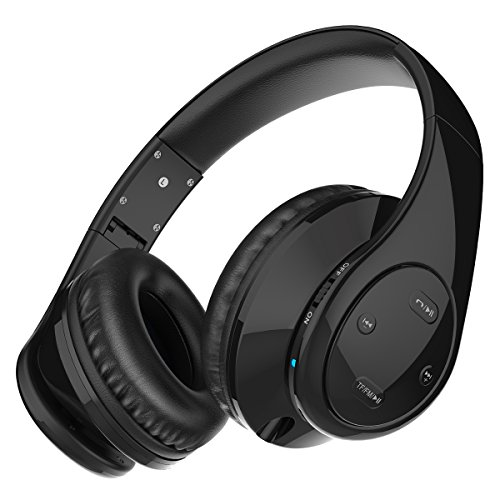 Picun P7 Bluetooth Headphones Wireless Foldable Noise Reducing Headsets With Mic and Volume Control for Kids Adults (Black)