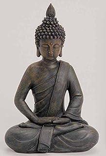 Deko Asien Garten BUDDHA Figur Statue Skulptur FENG SHUI 27 Cm NEU