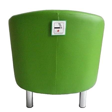 reception 66 x 68 x 72 cm Green ufficio Poltrona di design a pozzetto in pelle per sala da pranzo soggiorno