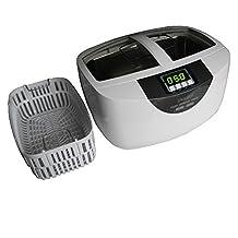 iSonic P4820-SPB25 Commercial Ultrasonic Cleaner 25-Minute Timer, 2.6 quart/2.5L, White Color, Plastic Basket, 110V