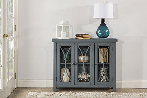 - Hillsdale Bayside Three (3) Door Cabinet - Robin Egg Blue
