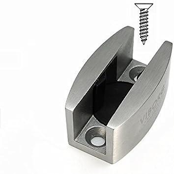 Guía de suelo guía inferior Viborg de lujo sólido SUS304 fundición ajustable de acero inoxidable, guía sin marco para puerta corrediza de cristal: Amazon.es: Bricolaje y herramientas