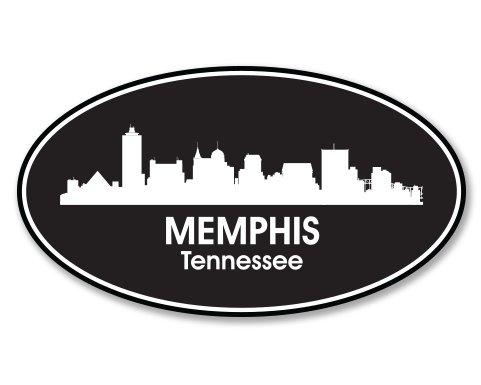 Memphis Tennessee Oval Vinyl Sticker - Car Phone Helmet - SELECT SIZE
