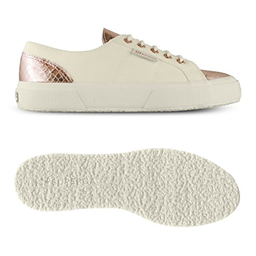 Unisex Ivory Basse Adulto pink Cotleasnakeu Superga Sneaker 2750 wIqOHF1