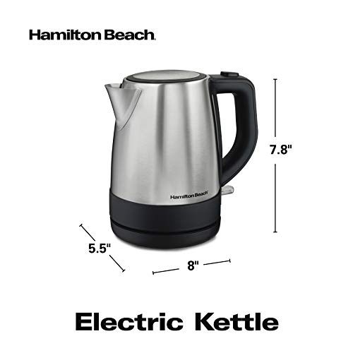Hamilton-Beach 40998C 1L Stainless Steel Electric Kettle
