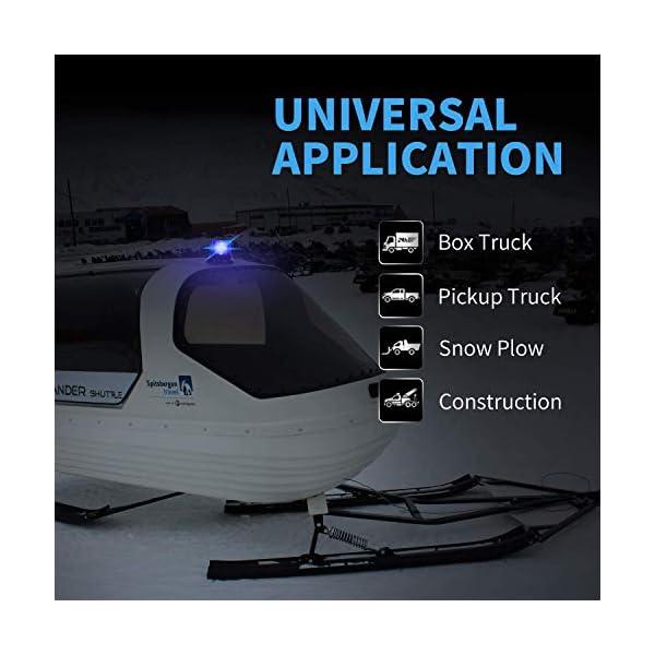 Luz de advertencia 12V LED Baliza Luces magnética Impermeable advertencia de emergencia para vehículo automotor Camión remolque Recargable 4