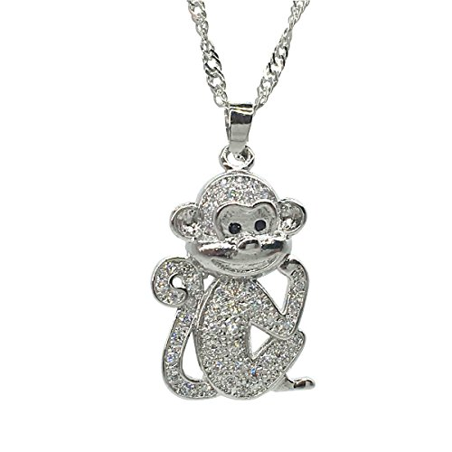 Tabwing Monkey Pendant Necklace Bridal Wedding Jewelry,Bridesmaid Gift