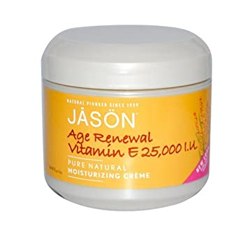 Jason Moisturizing Creme Vitamin E Age Renewal Fragrance Free - 25000 Iu - 4 Oz Everyday Minerals - Jojoba Base Natural Ivory - 0.17 oz.