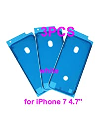 "Marco calcomanía bisel placa frontal digitalizador visualización precortado cinta adhesiva calcomanía pegamento para Apple Iphone 6s Plus 5.5"" blanco + phonsun portátil teléfono celular soporte"