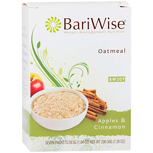 BariWise Low-Carb High Protein Oatmeal/Instant Diet Hot Oatmeals - Apples & Cinnamon (7 Servings/Box) - Low Carb, Low Calorie, Low Fat, Gluten Free, Aspartame Free