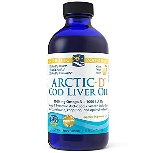 Nordic Naturals Arctic-D Cod Liver Oil - lemon, 8 oz. ( Multi-Pack)