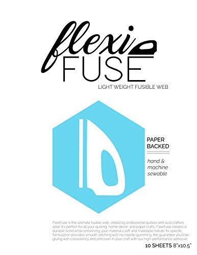 FlexiFuse Lightweight Fusible Web - 10 Sheets (8' x 10.5') Laser Cut Quilts