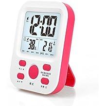 YXBaby Temperatura digital Medidor de humedad Hogar Termómetro luminoso de alta precisión Higrómetro Termómetro de escritorio y colgante Higrómetro para la habitación del bebé con Multifunción