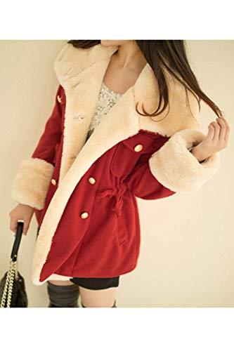 Revers Manches Coat Femme Warm Longues UntR0nwqF