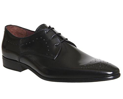 Poste , Herren Schnürhalbschuhe Black Polished Leather