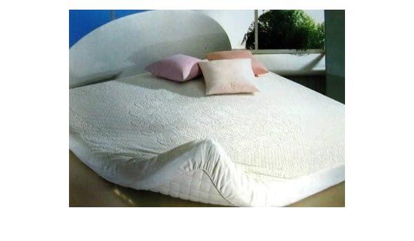 Biancheria - Casa Traversa Salva colchón algodón de Rizo Esquinas una Plaza y Media: Amazon.es: Hogar