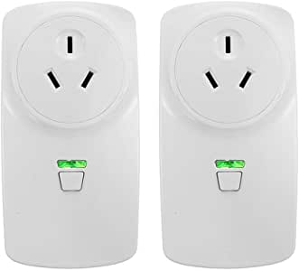 WiFi Smart Socket Outlet Plug BECROWM Smart Wall Plug App Control from Anywhere Remote Control Outlet with Timing Function Switch Home Appliances On/Off Automatically Compatible with Amazon Alexa Echo and Google Home,2 Packs