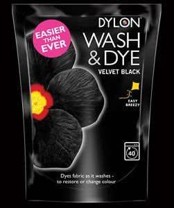 Lavado y tinte terciopelo Negro - 1 x - tinte de la tela de la ...