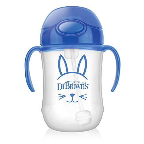 Dr. Brown's Baby's First Straw Cup, Cute Critters Blue, 9 ounce, Single