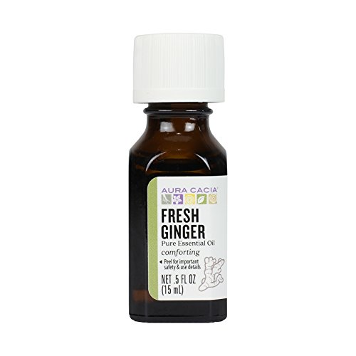Aura Cacia Essential Oil, Fresh Ginger, 0.5 Fluid Ounce, Packaging May Vary
