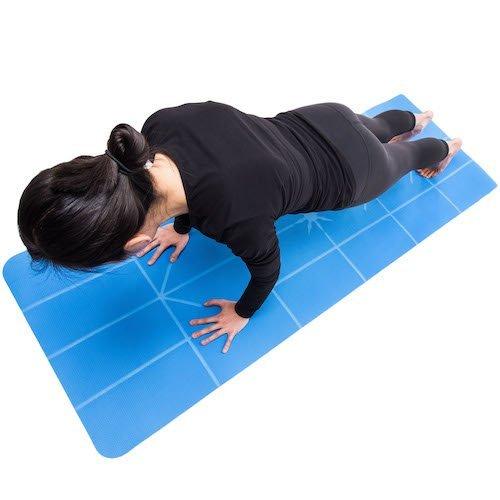 SALE! Thick Orange Premium Ylayaa Yoga Mat With Guided