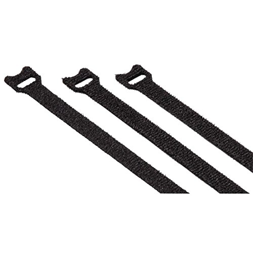 Hama Hook and Loop Velcro Cable Ties, 10x125 mm 20 Piece Set Reusable Velcro Closure Eyelet for Cable, Cables, Hoses, Black by Hama
