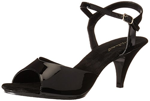(Pleaser Women's Bella-309/B/M Platform Sandal,Black/Black,16 M US)