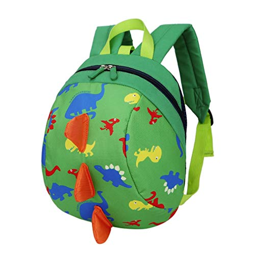 - Nevera Children Kids Toddler Dinosaur Animal Print Backpack School Shoulder Bags (Green)