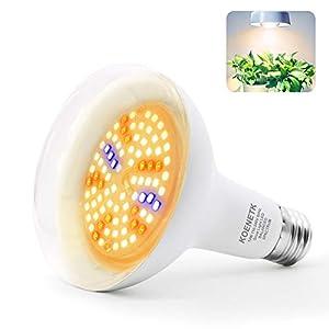 BR30 Grow Light Full Spectrum LED Bulb, KOENETK Indoor Plant LED Light Bulb for Seeds & Greens, E26 13W Daylight White…