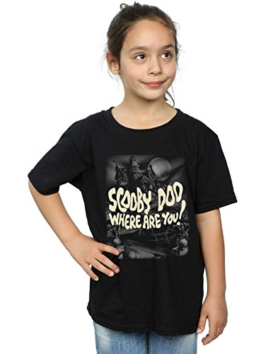 Scooby Doo Girls Scary Castle T-Shirt Black 9-11 Years -