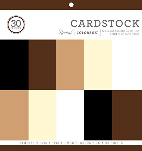 - Colorbok Neutral Smooth Cardstock Paper Pad, 12