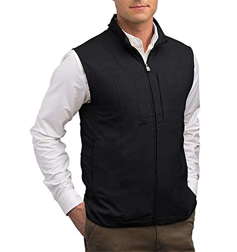 SCOTTeVEST RFID Travel Vests for Men with Pockets - Rugged Travel Clothing (BLK XL)